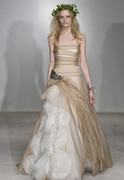 This season blushing brides gravitate to another shade of pale
