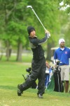 Lake Central's Rob Barker reacts after he realized his tee shot went out of play on No.18 Friday afternoon at the Uebele Invitational.