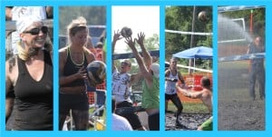Volleyball players get filthy for a good cause