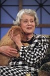 Jean Harris with Puppy in 1993, the Gift from Comedienne Joan Rivers 