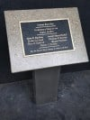 Memorial Plaque at Indiana State Fairgrounds Dedicated to 2011 Stage Collapse Tragedy