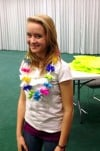 Crete tweens go Hawaii at library luau