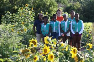 Girl Scouts plant garden to benefit South Suburban Family Shelter