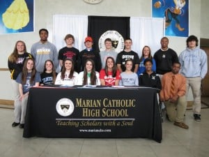 WEDNESDAY'S ILLINOIS PREP ROUNDUP: Marian Catholic athletes sign letters of intent