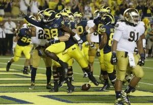 No. 17 Michigan beats No. 14 Notre Dame