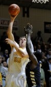 VU's Kevin Van Wijk drives for a layup