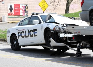 IUN officer, other driver injured in crash