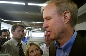 GOP Rauner's campaign ad used made-up headlines