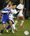 Valparaiso's Andrea Violanti and Lake Central's Sarah Triveline