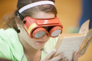 Visually impaired students help others see challenges