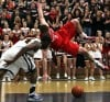 Munster senior Joe Crisman is fouled