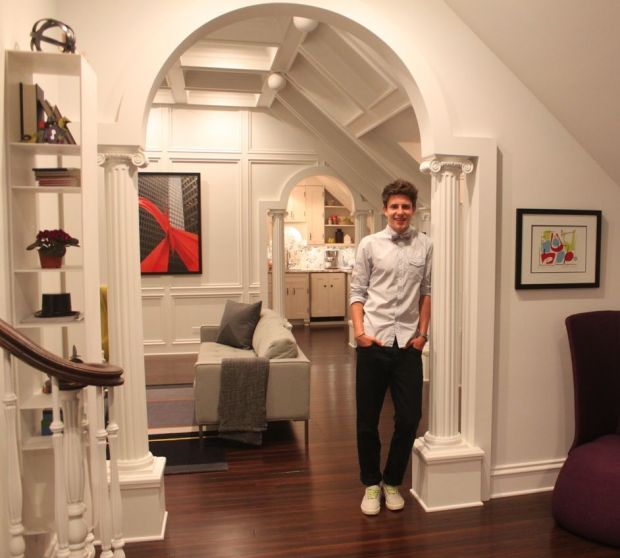 Teen's interior space designs featured at home and in magazine