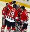Marian Hossa, Jonathan Toews, Duncan Keith, Ray Emery