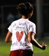 The players wore different signs of respect for Renee Ohrn Thursday evening during the sectional game at Wheeler High School.