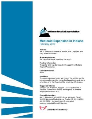 Study: Medicaid expansion worth $3.4B to Indiana economy, 30,000 jobs