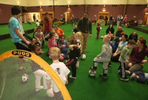 Portage parks brings the turf indoors