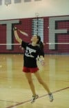Lauren Pasko is one of four seniors on the T.F. South badminton team