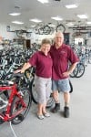 Roger and Susan Walsworth, owners of Buck's Bicycle Shop in Valparaiso