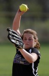 T.F. North's starting pitcher Sara Daw