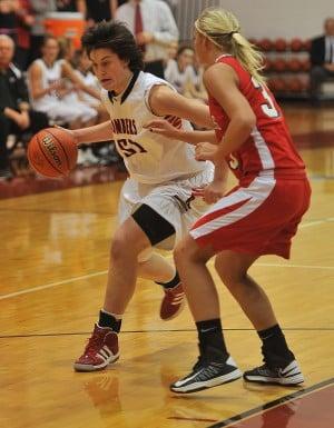 Rensselaer girls basketball team feeds off of Emilie Ziese's energy