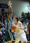 Valparaiso University's Kevin Van Wijk looks for an open shot