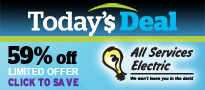 Today's Deal Promo Box -all services electric 