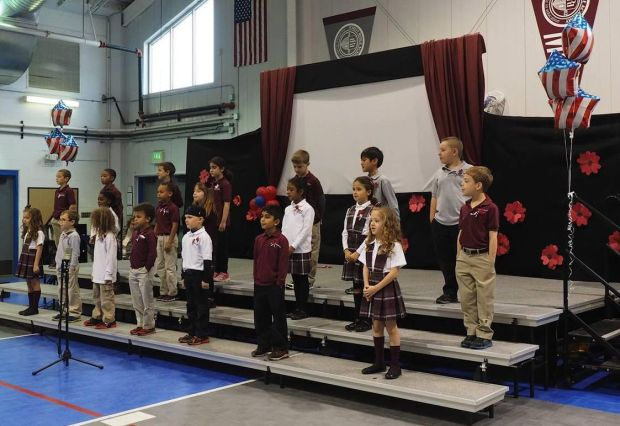 Second-graders host special guests on Veterans Day
