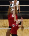 Morton's Lindsay Welch looks to block Lowell's Sarah Jonas