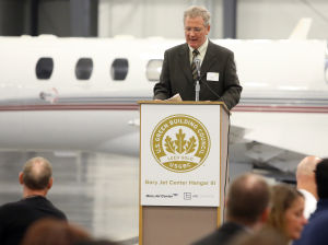 Gary airport celebrates environmentally-friendly hangar