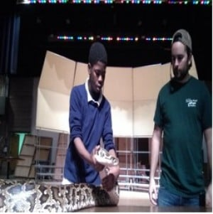 Traveling World of Reptiles slivers its way into Gavit Middle School
