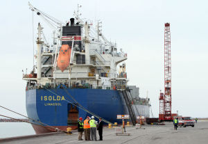First ships arrive at Port of Indiana-Burns Harbor