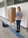 Clark students cast ballots