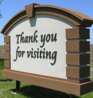 Welcome Signs Installed Onida Watchman News