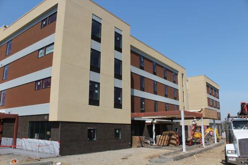 <p>Pictured above is the under-construction Home2 Suites by Hilton not far from Oswego Speedway and Lighthouse Lanes on Oswego's east side. Developed by Corning-based Visions Hotels, the hotel is slated to open this summer.</p>