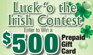 Luck 'o the Irish Contest!