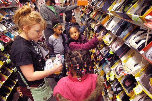 Boys & Girls Club kids treated to free Payless ShoeSource footwear