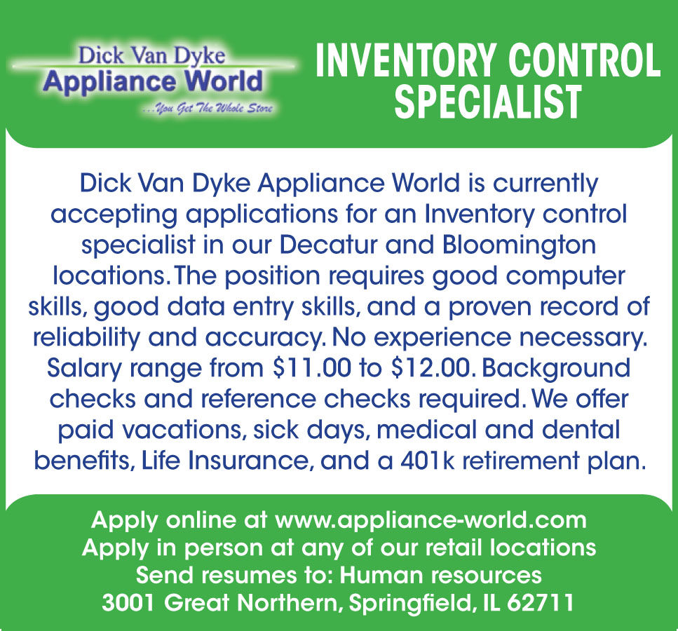 inventory control specialist salary