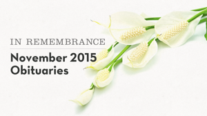 In remembrance: Locals who passed on in November
