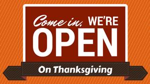 B-N restaurants open on Thanksgiving Day