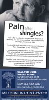 Pain after shingles? Call Millennium Pain Center today!