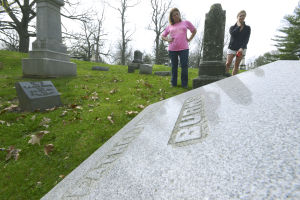 Photos: Vandalism at Evergreen Memorial Cemetery