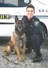 Draco and Officer Casey Kohlmeier