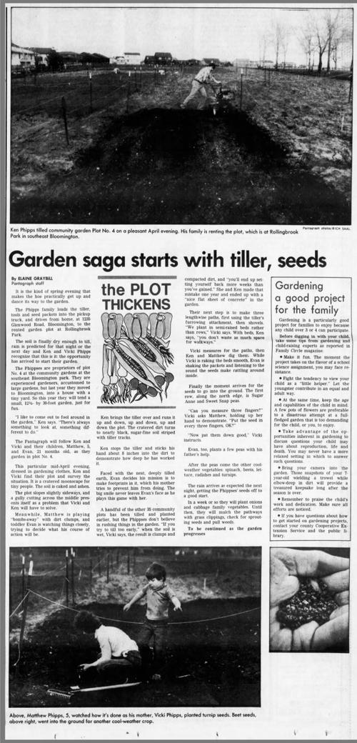 Garden saga starts with tiller seeds pantagraphcom