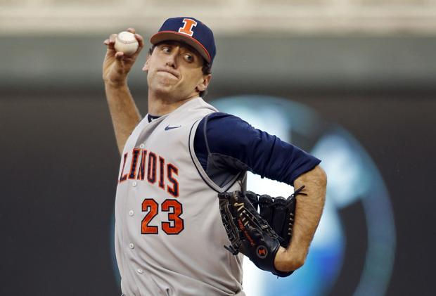 Kravetz throws shutout, Illini stay alive in Big Ten baseball