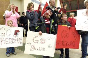 Photos: Fans welcome runner-up Redbirds back to B-N
