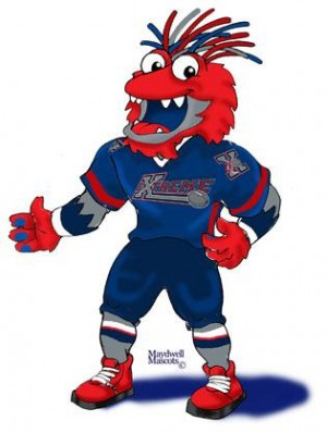 New Bloomington Extreme Mascot A Chicken Lizard Mix