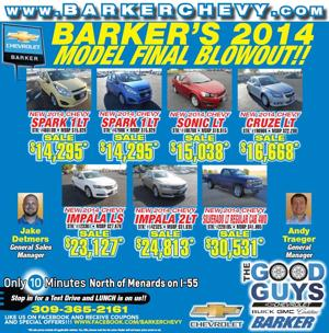 DO NOT PASS UP Barker's 2014 Model Final Blowout!!