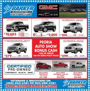 See Barker Motors at the Peoria Auto Show!