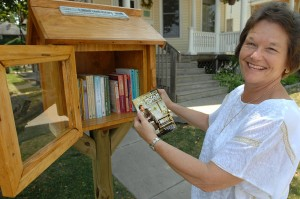 The 'Little Free Library' opens up in Bloomington