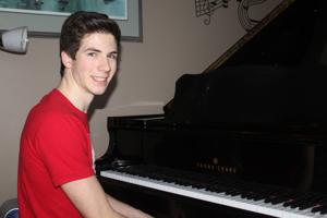 Talented Montague youth seeks  votes in Piano Hero contest